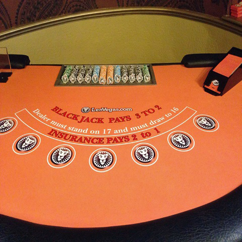 Branded blackjack table hire