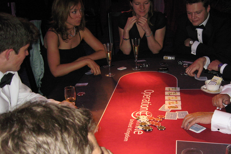 Branded charity casino night