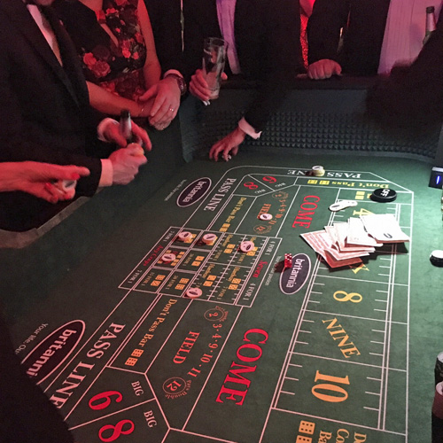 Branded craps table