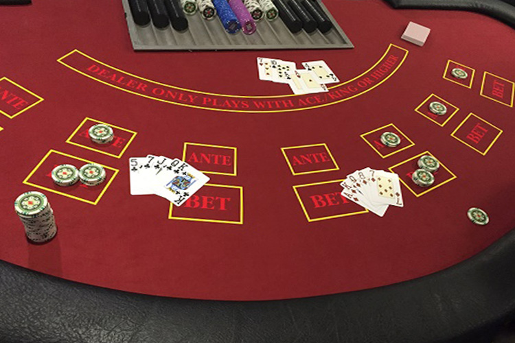 Casino Stud poker game hire