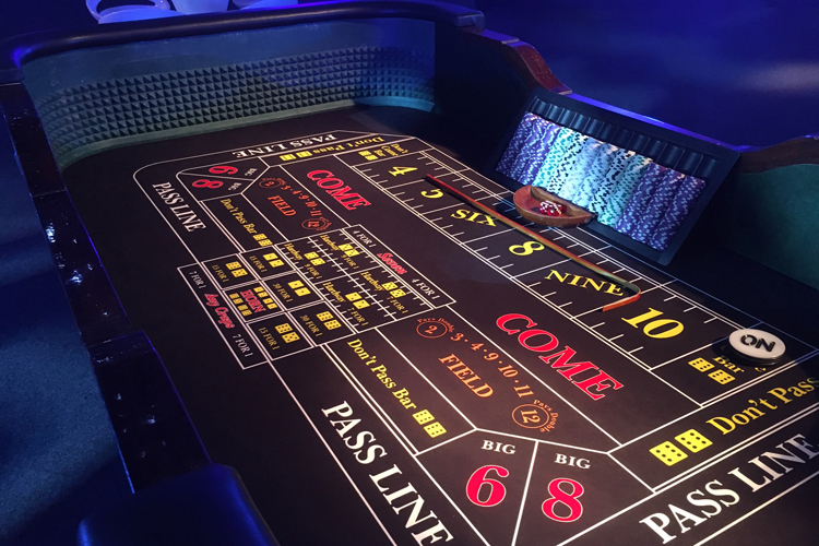 Craps table hire