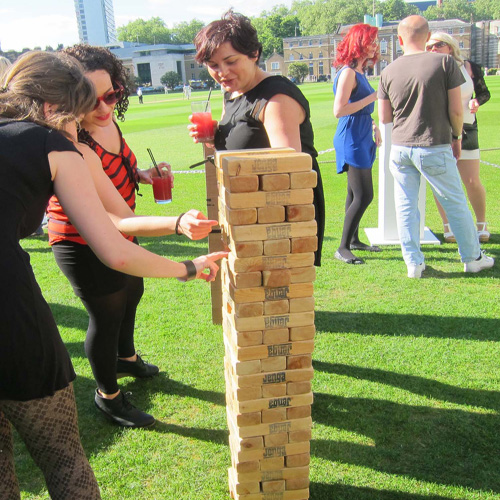 Giant jenga hire