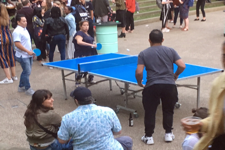 Outdoor ping pong table hire