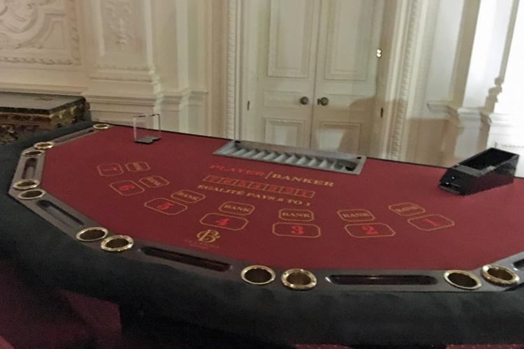 Punto banco table hire
