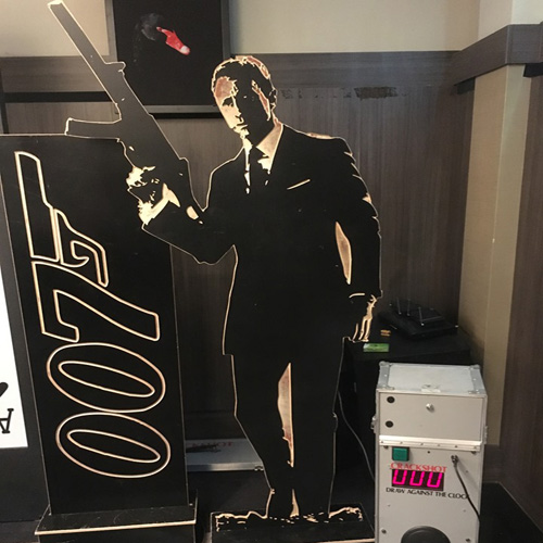 Bond themed Quickdraw shooting hire
