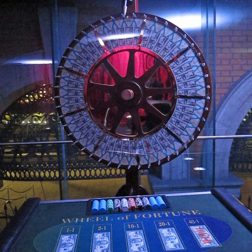 Vegas wheel of fortune hire