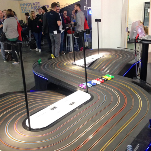 Giant scalextric tracks