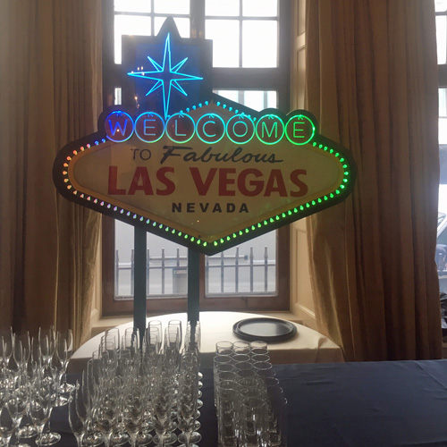 Welcome to Vegas sign hire