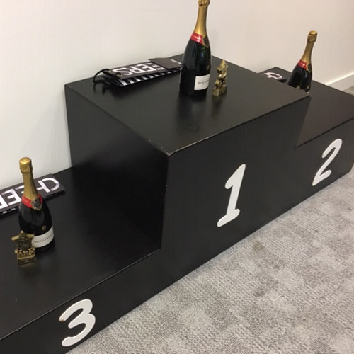 Winners Podium prop hire