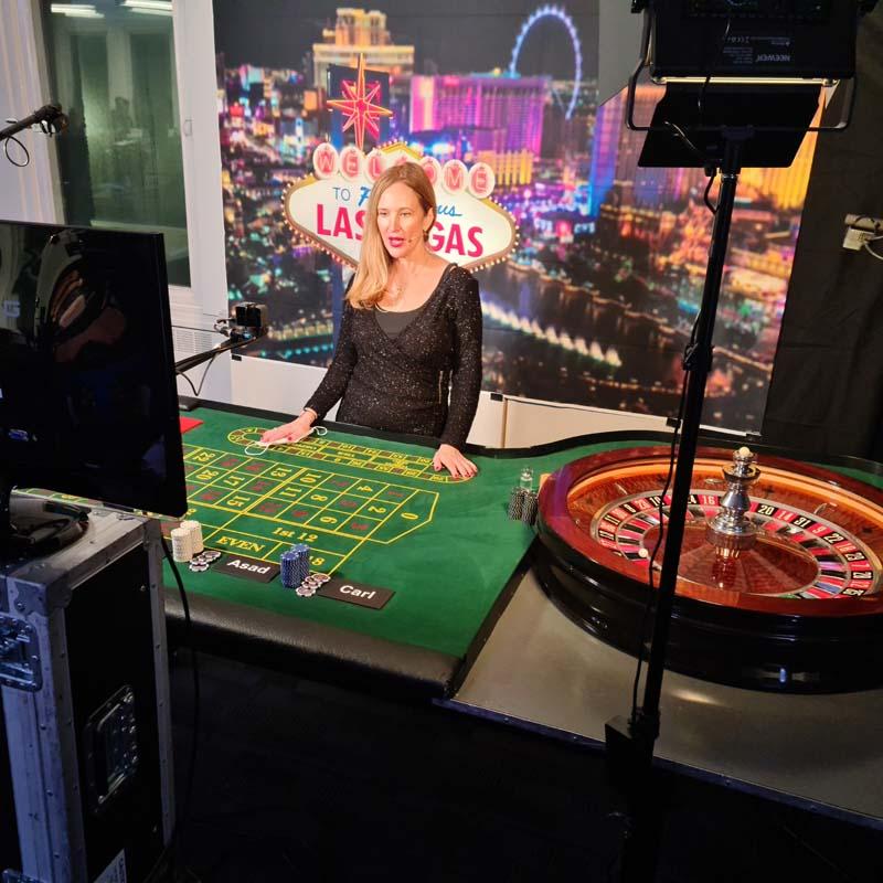 Virtual Roulette table hire